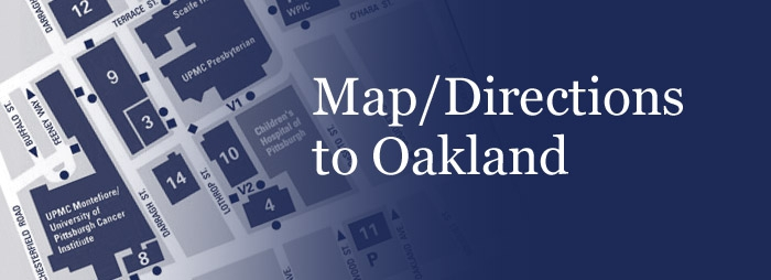 Map and directions to Oakland