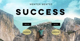 screenshot of the homepage of the Mentor Mentee Program website