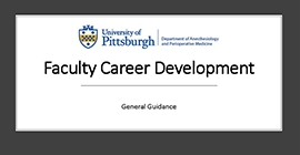 Faculty Career Development General Guidance
