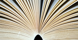 book pages fanned open